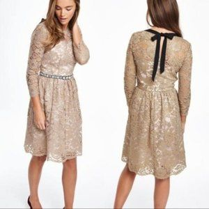 Boden Luxe Gold Lace Dress Size 6
